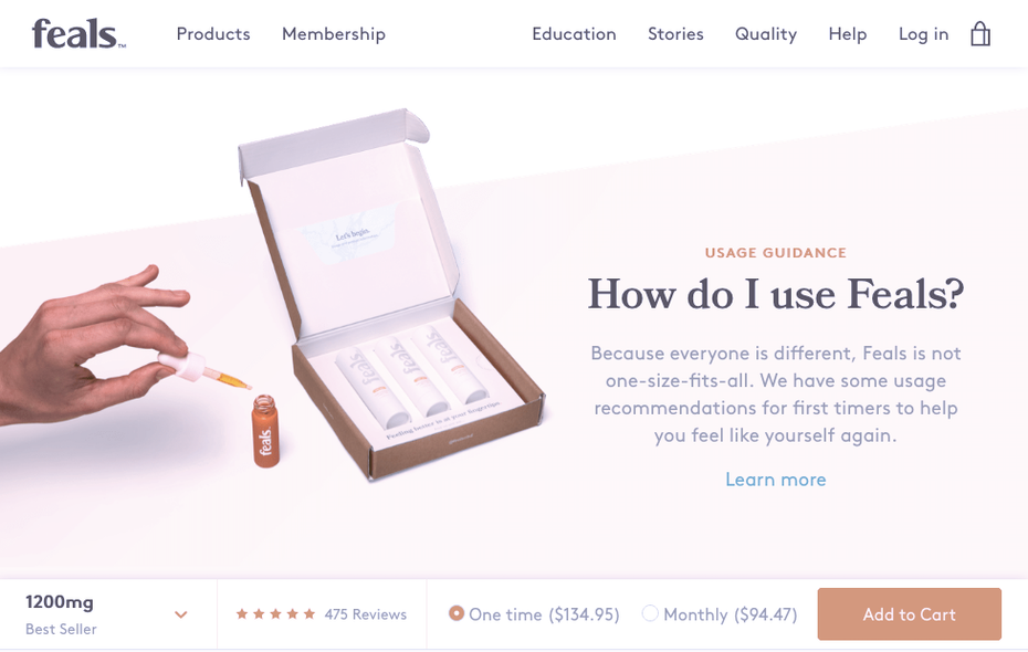 Personal Product Descriptions and Quizzes