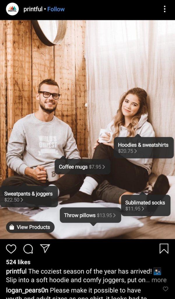 Shop with Social Media Posts